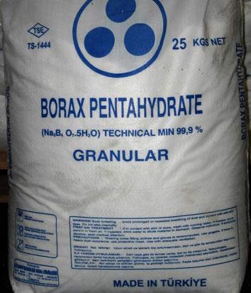 borax pentahydrate 25 kg